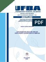 Avaliação Do Ciclo de Vida Do Fertilizante Superfosfato Simples