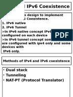 IPv4 and IPv6 Coexistence