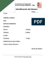 Ficha de Identificación Del Alumno