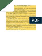 Principios de La Educación Peruana