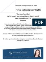 Community Forum on Immigrants' Rights (English)