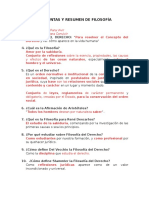 Preguntas y Resumen de Filosofía i Parcial
