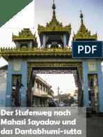 Der Stufenweg nach Mahasi Sayadaw und das Dantabhumi-sutta