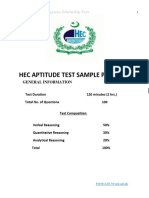 HEC GAT Sample Papers