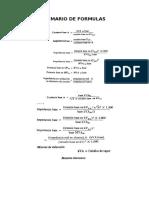 Sumario de Formulas