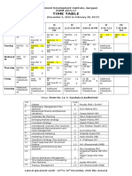 Time Table PGPM 2015 17
