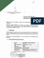 Requerimiento de prisión preventiva en contra del ex Presidente Alejandro Toledo