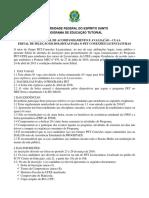 Edital Pet Licenciaturas 2016