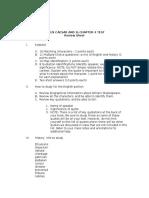 Julius Caesar 1:2 Ch 4 Test - Review Sheet