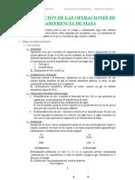 Clasificación de Las Operaciones de Trasferencia de Masa
