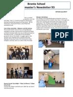 Newsletter No 93 - 10 February 2017