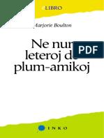 Eo - Boulton, Marjorie - Ne Nur Leteroj de Plum-Amikoj