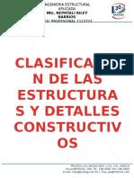 Clasificación de Las Estructuras  y Detalles Constructivos