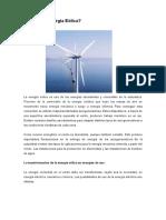 Qué Es La Energía Eólica