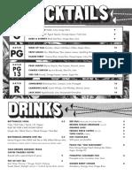 Alamo Drafthouse Mueller's Drink Menu