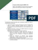 Secuencia de Pasos de Ingreso de Datos Programa CENSOL V