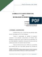 CAHALI - Súmula 377 e Mudança de Regime de Bens.pdf