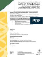 South Australian Neonatal Medication Guidelines; Sodium Bicarbonate - Govt of South Australia, Dept Health - 2017-02-18