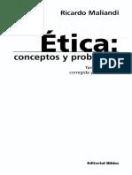 Maliandi Ricardo - Etica - Conceptos Y Problemas.pdf