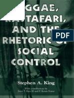 Reggae, Rastafari, And the Rhetoric of Social Control