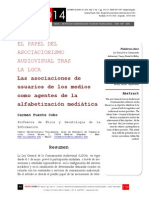Icono14. A8/V2. El papel del asociacionismo audiovisual tras la LGCA. Las asociaciones de usuarios de los medios como agentes de la alfabetización mediática
