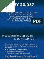 Procedimiento Laboral Ordinario. Ley 20.087
