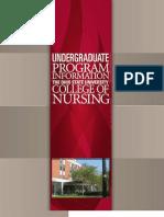 OSU College of Nursing Undergraduate brochure