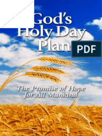 God's Holy Day Plan