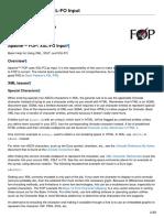 FOP XSL-FO Input