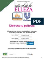 Disfruta Tu Película _ Festival de La Belleza _ Unilever