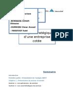 Analyse Stratégique d'Une Entreprise Cotée ATLANTA Assurances