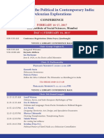 Deleuze Studies India Collective Conference Programme Schedule 2017