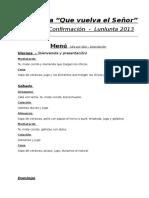 Anexo 14 - Descripción Del Menú - Cocina