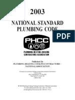National Standard Plumbing Code (2003)
