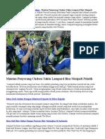 Mantan Penyerang Chelsea Yakin Lampard Bisa Menjadi Pelatih