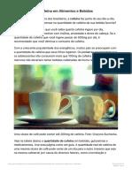 Quantidade de Cafeína em Alimentos e Bebidas-1