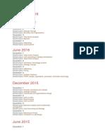 Past Paper Requirements P1 upto Dec 2016