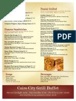 menu page 2 dinner