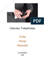 Apostila Cálculos Trabalhistas 2016