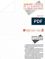 PSP (1989) - Seminario Nacional de La Juventud de La Unidad Socialista