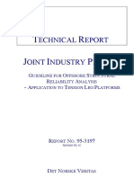 Guideline for Offshore Structural Reliability Analysis (Aplication to Tension Leg Platforms) DNV