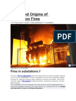 Types and Origins of Substation Fires