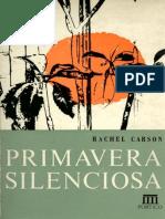 Livro Primavera Silenciosa Rachel Carson