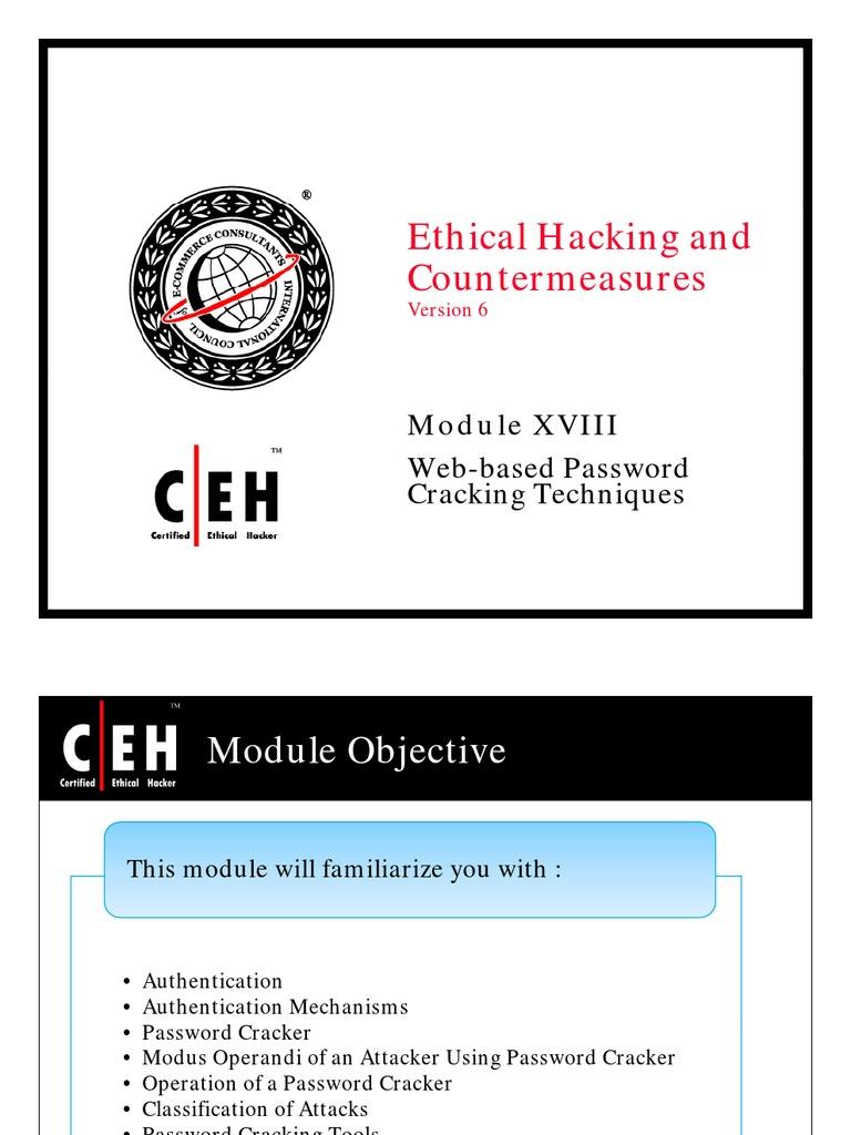 CEH Module 18: Web Based Password Cracking Techniques | Password