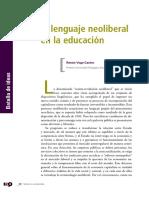 El lenguaje neoliberal de la educación Renan Vega