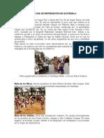 Danzas Que Se Representan en Guatemala