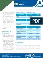 Ficha Técnica Secil EcoCORK Lime