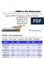 Si Photonic Wdm in the Datacenter 2015