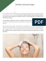 Como hacer un calentador solar para el agua de la ducha.pdf