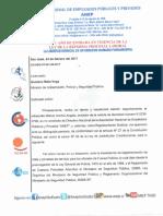 Carta al Ministro de Seguridad Pública,  Gustavo Mata